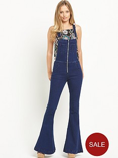 glamorous-zip-front-dungarees