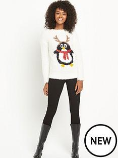 south-penguin-eyelash-xmas-jumper