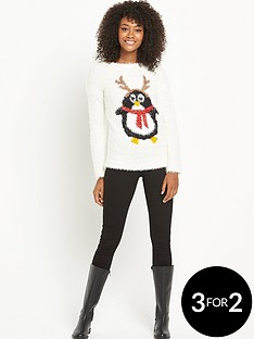 south-penguin-eyelash-christmas-jumper