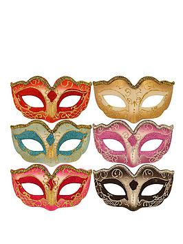 metallic-glitter-masquerade-masks-pack-of-6