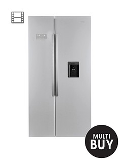 beko-asd241x-ecosmartnbspamerican-style-fridge-freezer-with-non-plumbed-water-dispenser-stainless-steel