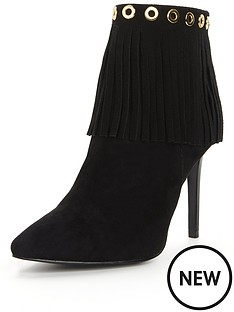 glamorous-fringed-rivet-detail-ankle-boot