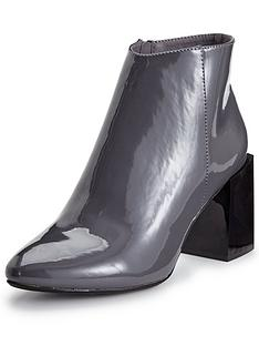 glamorous-patent-block-heel-ankle-boot