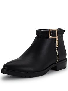 glamorous-buckle-ankle-boot
