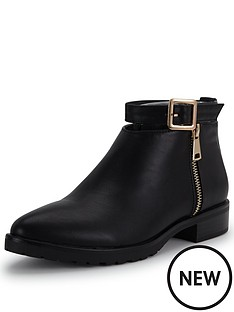 glamorous-glamorous-buckle-ankle-boot