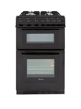swan-sx2070b-50cm-twin-cavity-gas-cooker-black