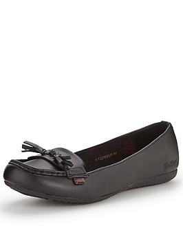 Kickers Verda Tass Moccasin Flat Leather Shoes