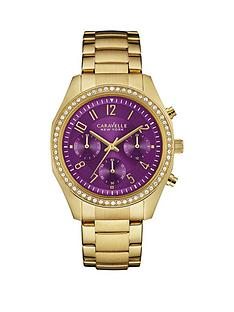 caravelle-new-york-caravelle-new-york-chronograph-cyrstal-set-purple-dial-yellow-gold-ip-stainless-steel-bracelet-ladie