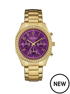caravelle-new-york-caravelle-new-york-chronograph-cyrstal-set-purple-dial-yellow-gold-ip-stainless-steel-bracelet-ladie