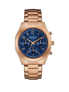 caravelle-new-york-caravelle-new-york-chronograph-navy-blue-dial-rose-gold-ip-stainless-steel-bracelet-ladies-watch
