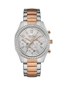 caravelle-new-york-caravelle-new-york-chronograph-cystal-set-dial-two-tone-stainless-steel-bracelet-watch