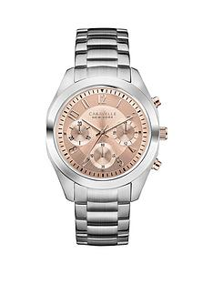 caravelle-new-york-caravelle-new-york-chronograph-rose-coloured-dial-stainless-steel-bracelet-ladies-watch