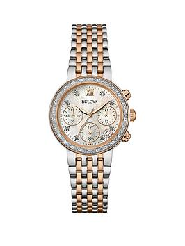 bulova-full-diamond-set-chronograph-two-tone-stainless-steel-bracelet-ladies-watch