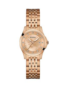 bulova-12-diamond-set-dial-on-a-rose-gold-ip-stainless-steel-case-and-bracelet-ladies-watch