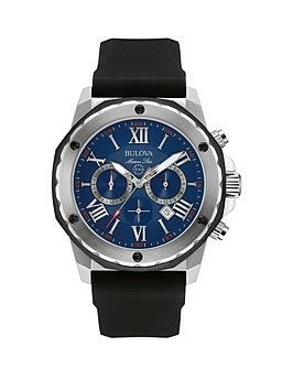 bulova-marine-star-sports-chronograph-blue-dial-black-rubber-strap-mens-watch