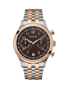 bulova-bulova-chronograph-stainless-steel-and-rose-gold-ip-case-and-bracelet-brown-dial-mens-watch