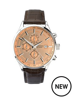 sekonda-chronograph-dial-brown-leather-strap-mens-watch