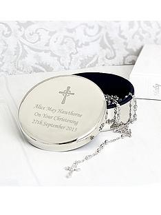 rosary-beads-and-personalised-cross-in-round-silver-finish-trinket-box