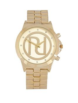 river-island-river-island-yellow-gold-tone-classic-chunky-ladies-watch