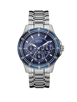 guess-longitude-blue-multi-dial-stainless-steel-bracelet-mens-watch