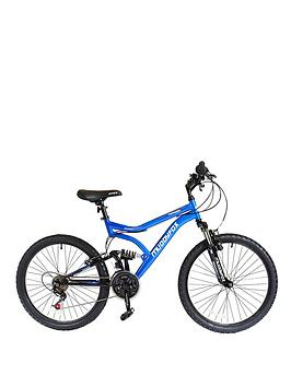 Muddyfox 24 Inch Typhoon Boys Dual Suspension Mountain Bike