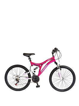 Muddyfox 24 Inch Phoenix Girls Dual Suspension Bike