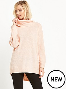 warehouse-cowl-neck-slouchy-jumper