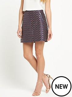 warehouse-diamond-jacquard-skirt