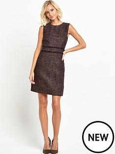 warehouse-frayed-pocket-tweed-dress