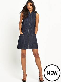 warehouse-zip-front-a-line-dress
