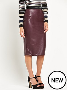 warehouse-faux-leather-pencil-skirt