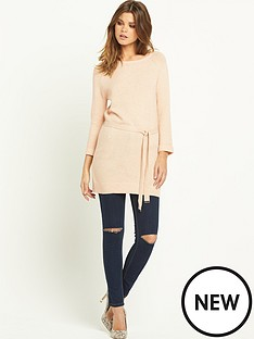 warehouse-knitted-belted-tunic