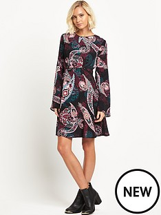 warehouse-paisley-print-baby-doll-dress