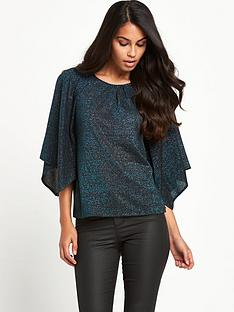 v-by-very-metallic-cape-sleeve-top