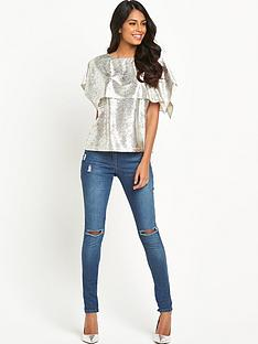 v-by-very-metallic-double-layer-top