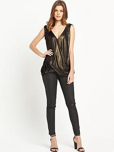 v-by-very-drape-front-foil-top