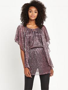 v-by-very-metallic-plisse-tunic
