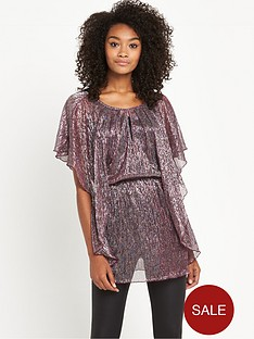 v-by-very-metallic-plisse-tunic