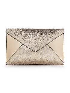 glitter-panel-envelope-clutch-gold