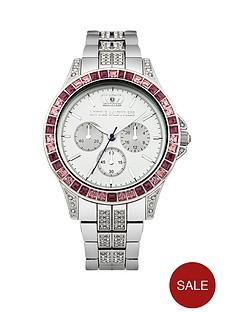 little-mistress-little-mistress-purple-stone-set-silver-tone-bracelet-ladies-watch