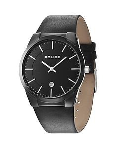 police-police-target-black-leather-strap-mens-watch