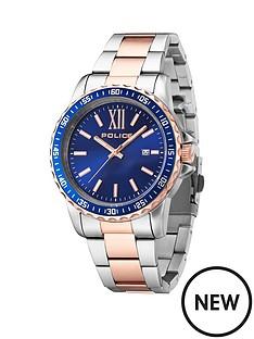 police-police-las-vegas-two-tone-stainless-steel-bracelet-mens-watch