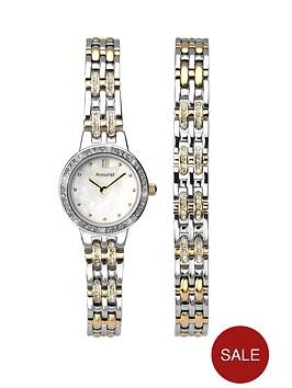 accurist-stone-set-two-tone-stainless-steel-bracelet-ladies-gift-set