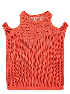 freespirit-girls-cold-shoulder-slouchy-knitted-jumper