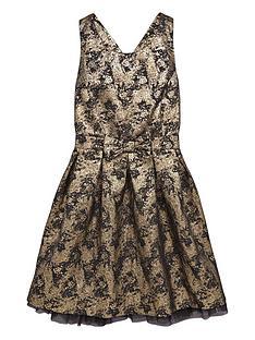 freespirit-girls-jacquard-strappynbspprom-dress