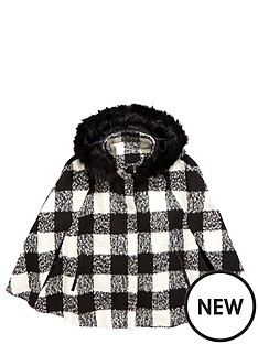 freespirit-girls-checked-cape-with-faux-fur-hood