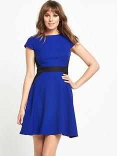 south-contrast-mix-and-match-skater-dress