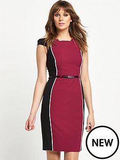 south-petite-panelled-colourblock-dress