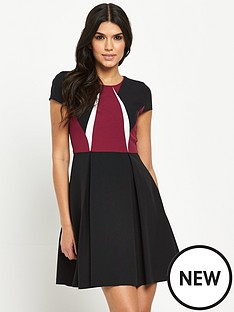 v-by-very-petite-colourblock-skater-dress