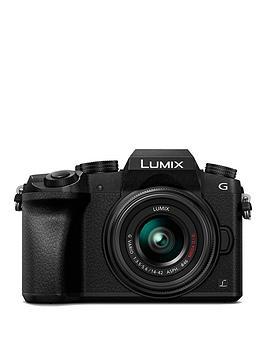Panasonic Panasonic Dmc-G7Keb-K Compact Dslr Mirrorless Camera With  ... Picture